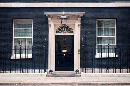 Prime Minister's Office in 10 Downing Street in London