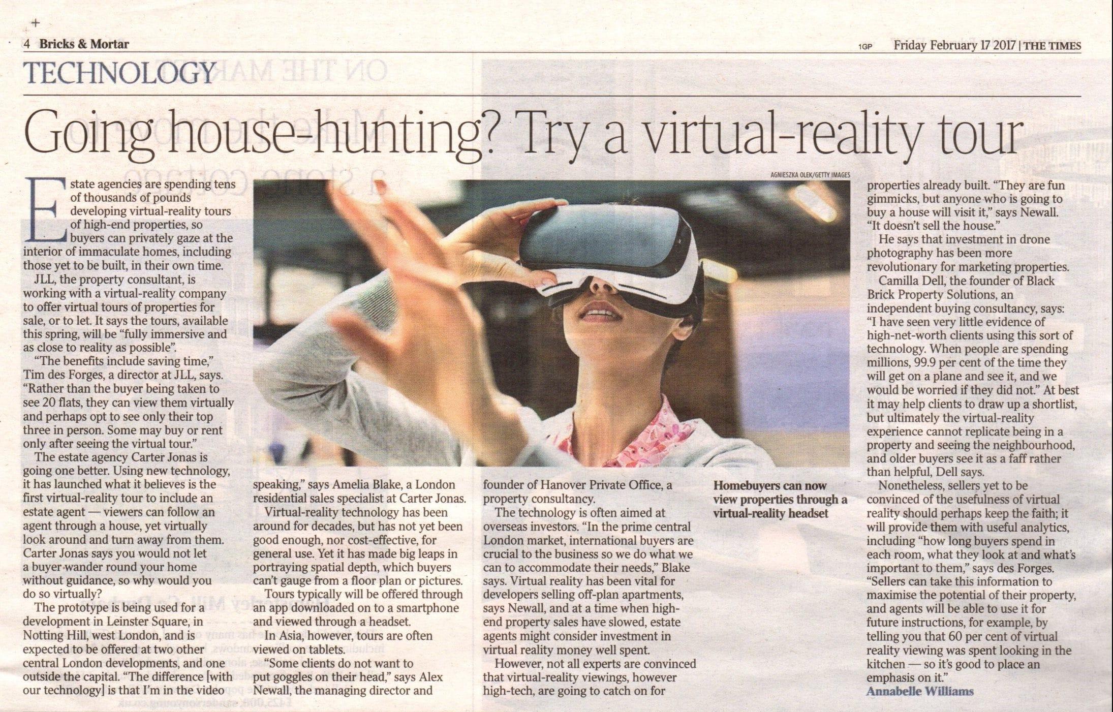 Virtually reality house hunting